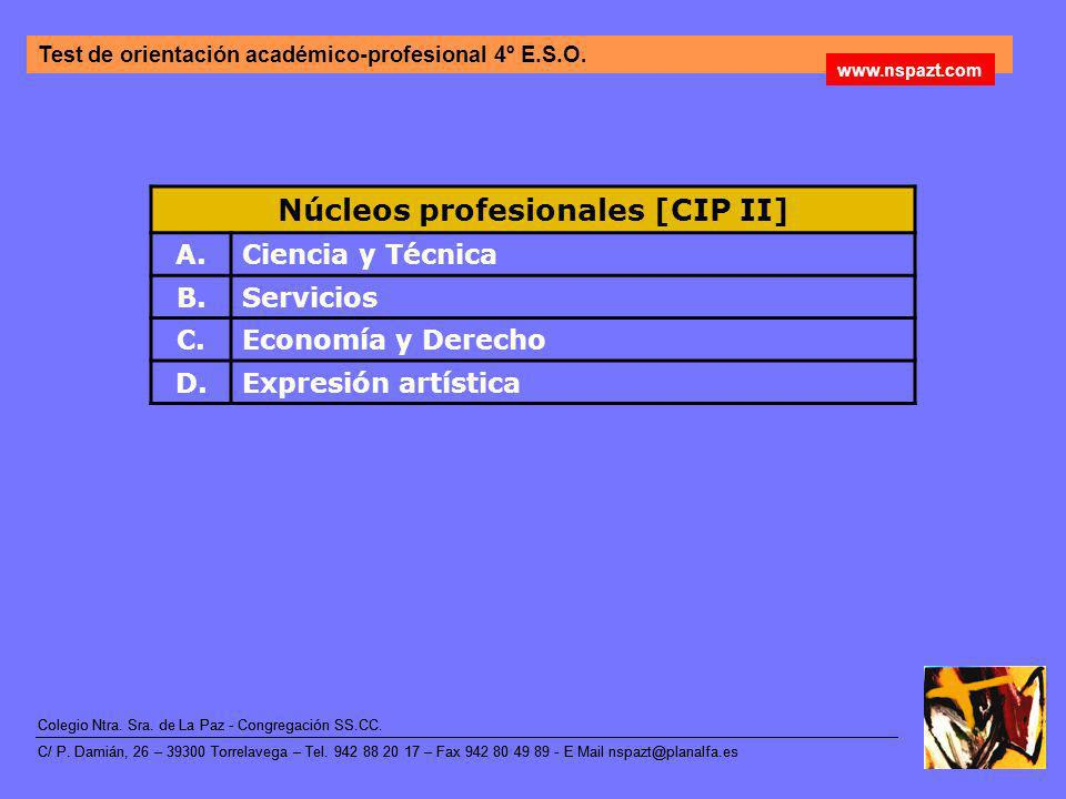Núcleos profesionales [CIP II]